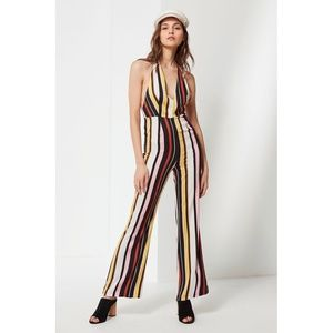 Urban Outfitters Shiloh Plunging Flare Jumpsuit 10